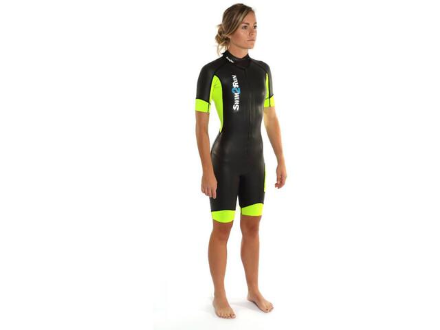 Dare2Tri Swim&Run Go Dames geel/zwart